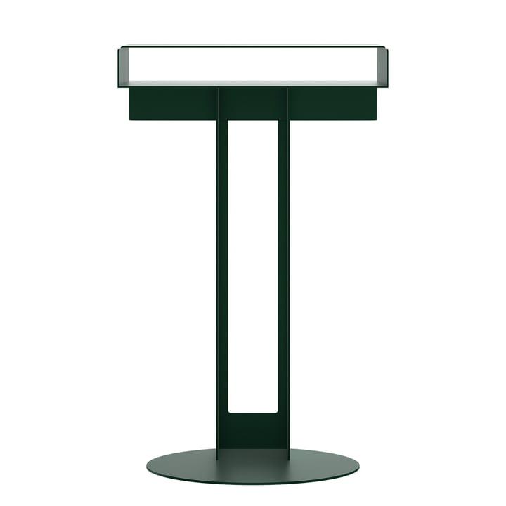 Meta side table from New Tendency in dark green
