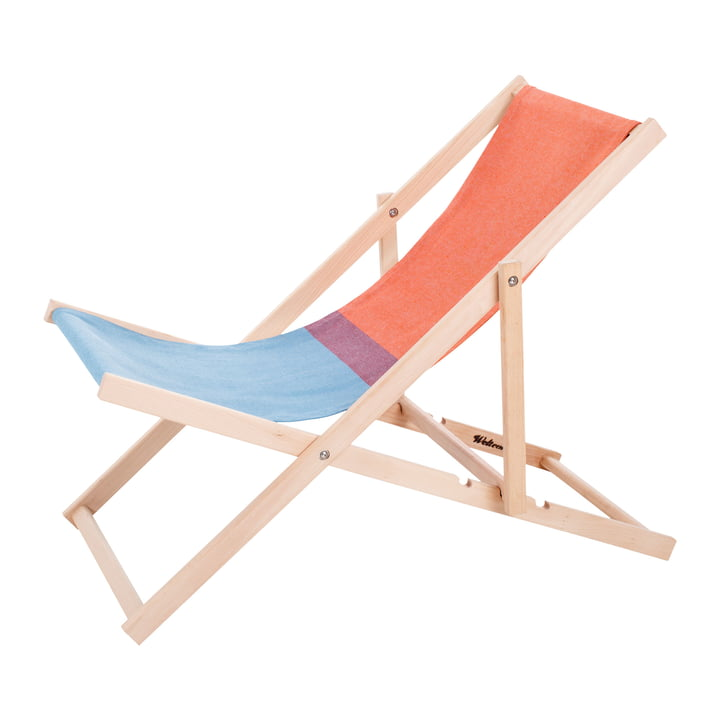 Beach Chair in red / blue by Weltevree
