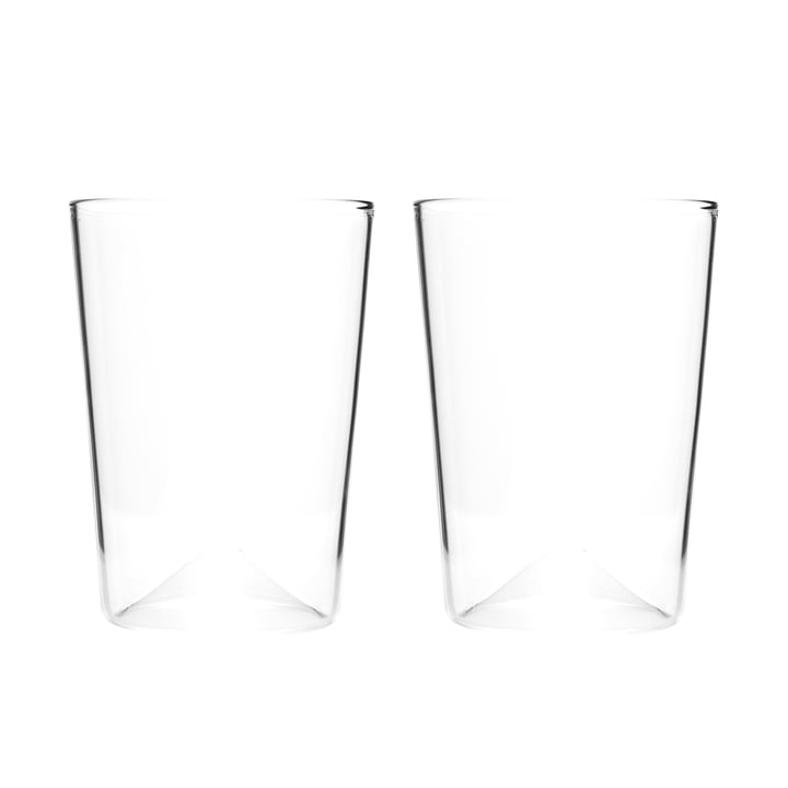 Rien drinking glass Ø 81 x H 110 mm (set of 2) by New Tendency