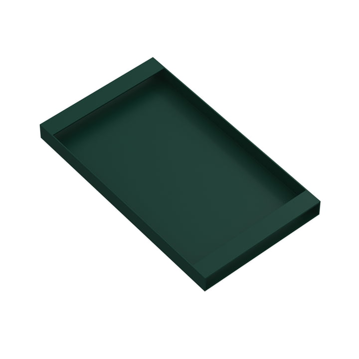 Torei serving tray 320 × 185 × 25 mm of New Tendency in dark green