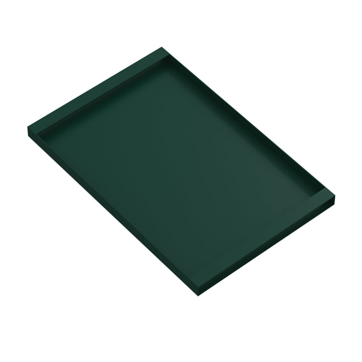 Torei serving tray 475 × 315 × 25 mm from New Tendency in dark green
