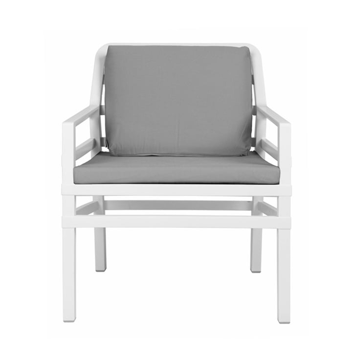 Aria Poltrona Armchair from Nardi in white / grey