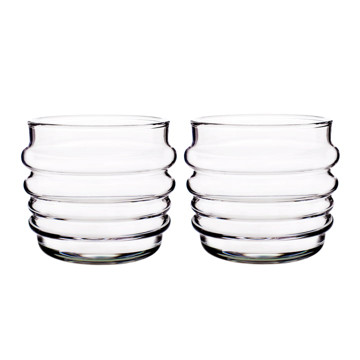Succat Makkaralla water glass 200 ml (set of 2) from Marimekko in clear
