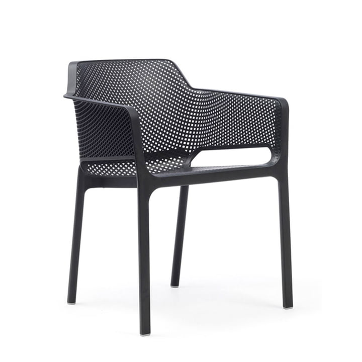 Net armchair by Nardi in anthracite