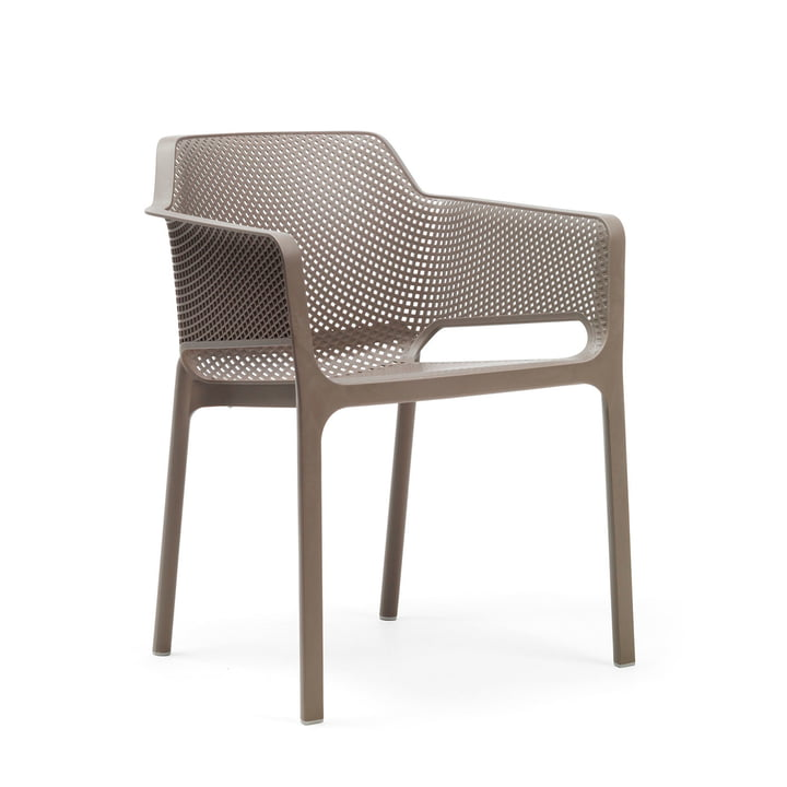 Net armchair from Nardi in tortora