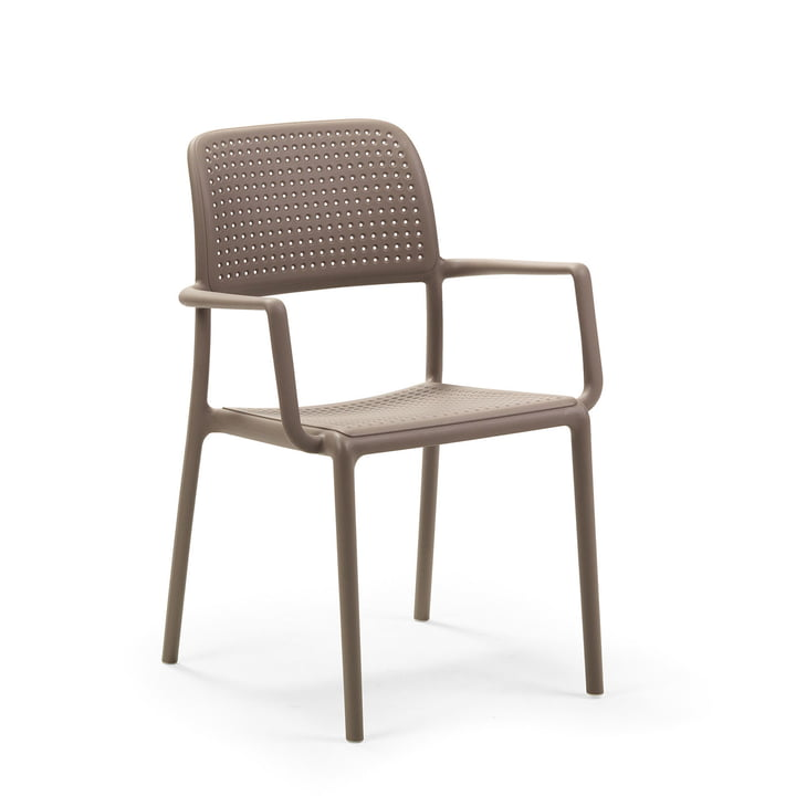 Bora armchair in tortora by Nardi