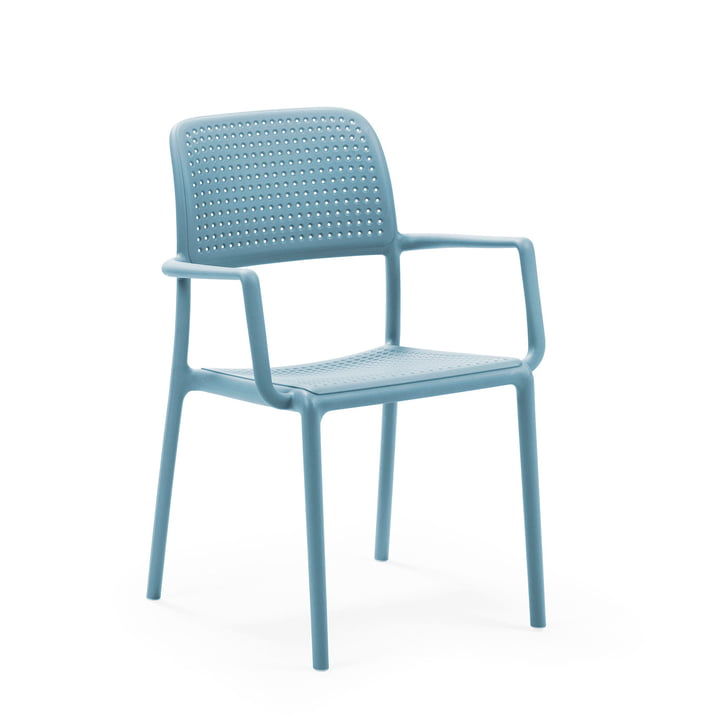 Bora armchair in celeste by Nardi