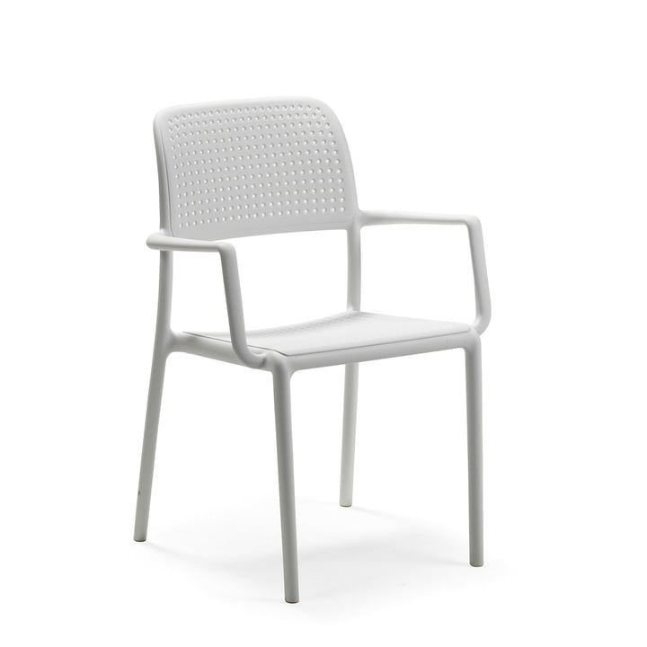 Bora armchair in white by Nardi