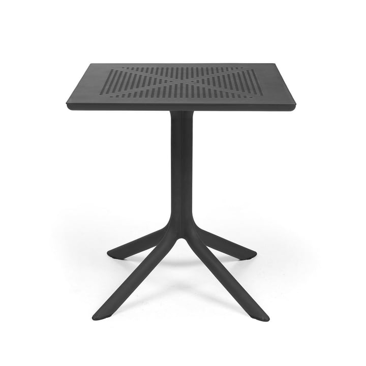 The ClipX 70 table in anthracite by Nardi