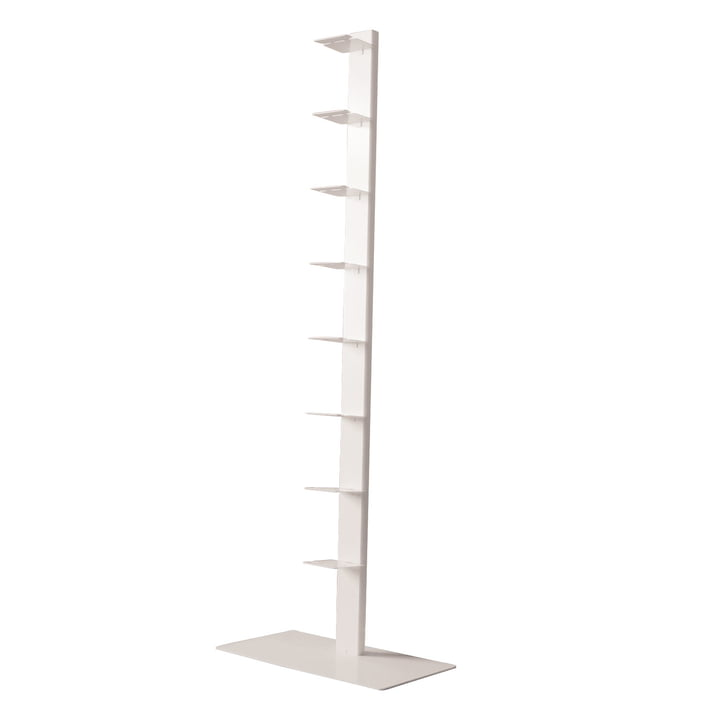 Booksbaum Big Stand shelf single by Radius Design in white