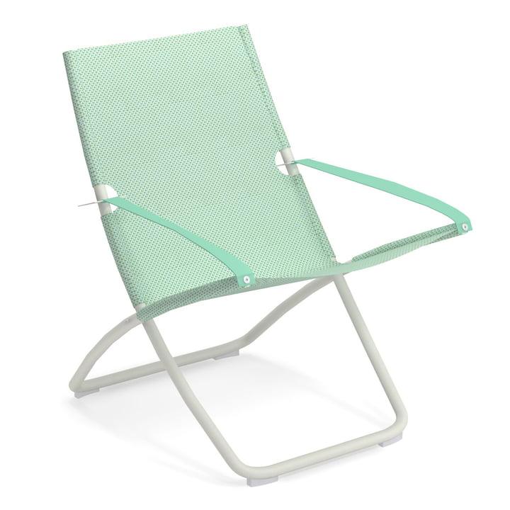 Snooze Deckchair from Emu in white / citronella