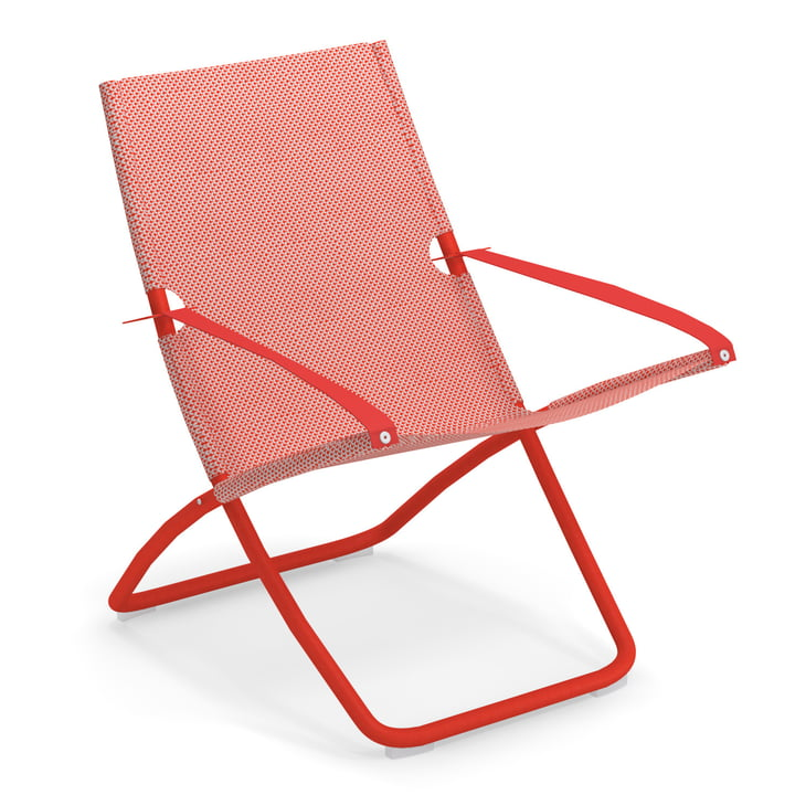 Snooze Deckchair from Emu in scarlet / red