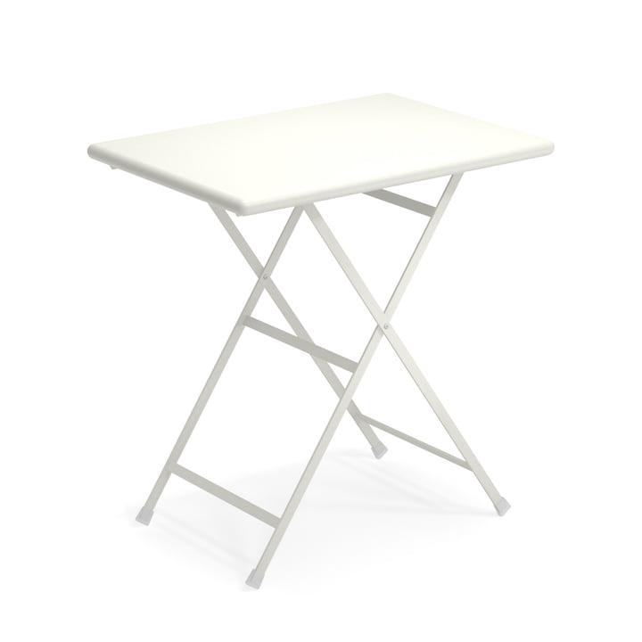 Arc en Ciel folding table, 70 x 50 cm in white by Emu