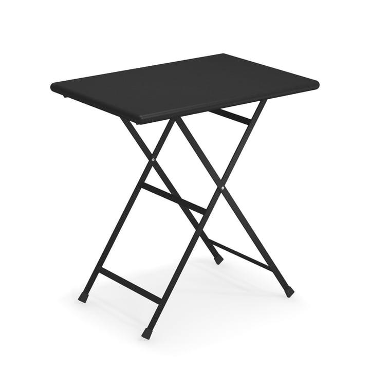 Arc en Ciel folding table, 70 x 50 cm in black by Emu