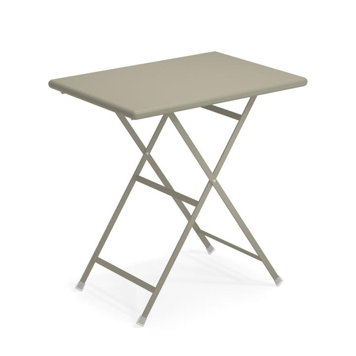 Arc en Ciel folding table, 70 x 50 cm in grey-green by Emu