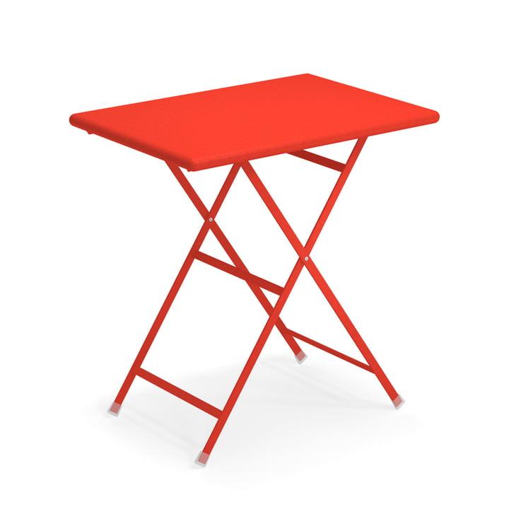 Arc en Ciel folding table, 70 x 50 cm in scarlet red by Emu