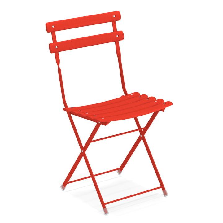 Arc en Ciel folding chair in scarlet by Emu