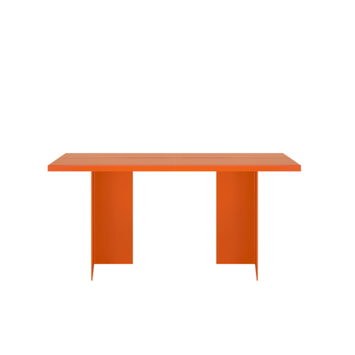 Zebe table 150 x 85 cm of objects of our days in pure orange