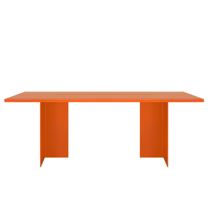 Zebe table 200 x 85 cm of objects of our days in pure orange