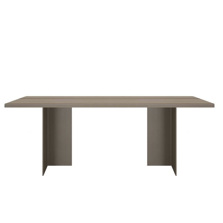 Zebe table 200 x 85 cm from objects of our days in olive