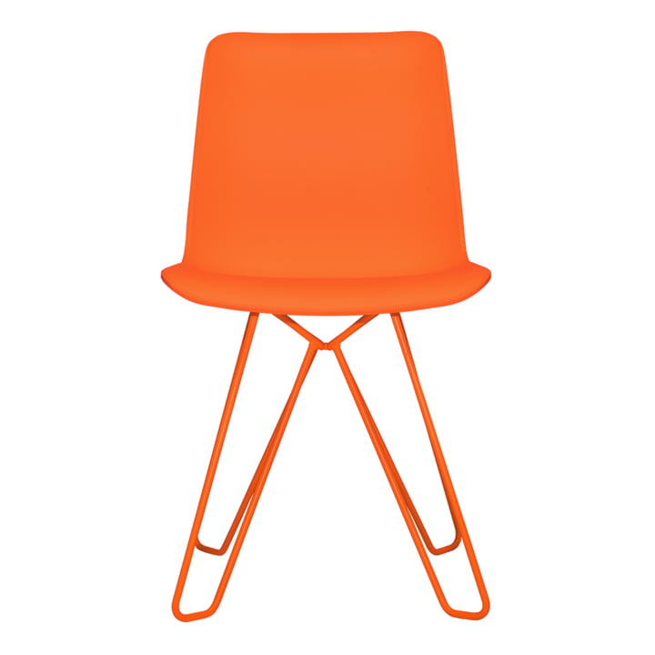 Shepherd chair of objects of our days in pure orange