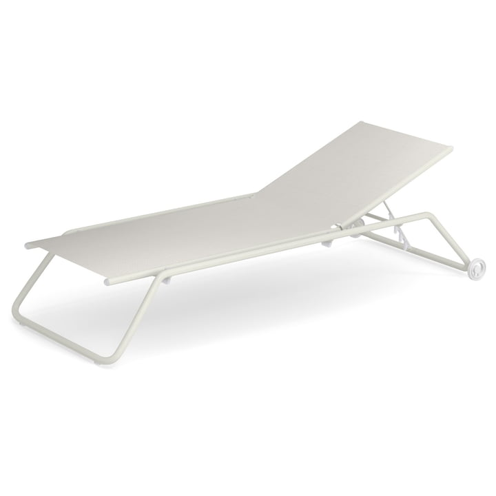 Snooze sunbed in white by Emu