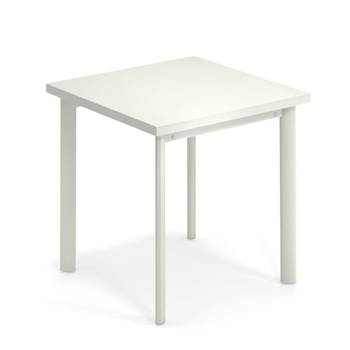 Star table H 75 cm, 70 x 70 cm in white by Emu