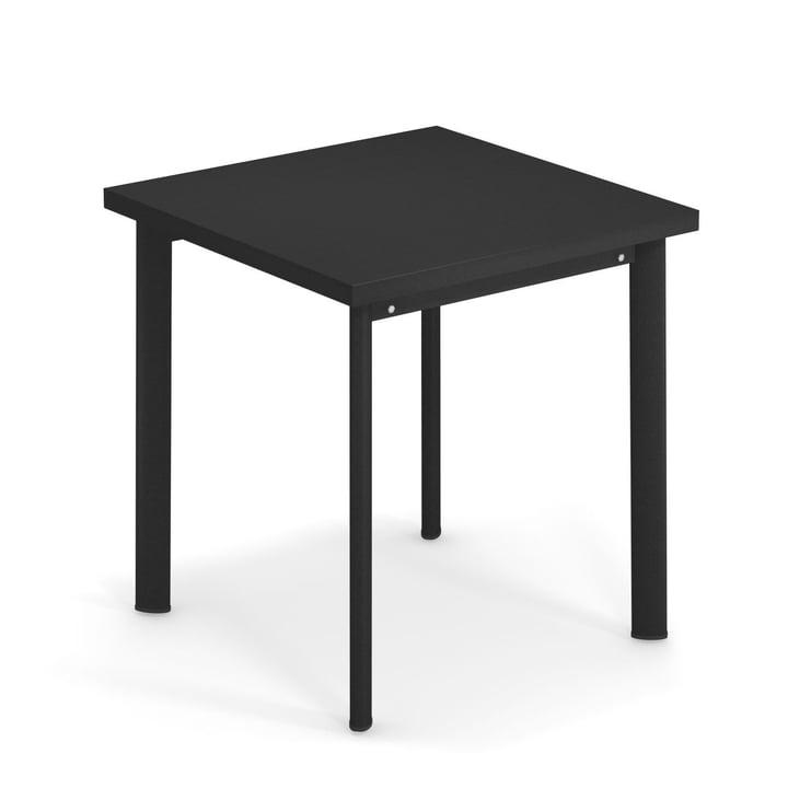 Star table H 75 cm, 70 x 70 cm in black by Emu