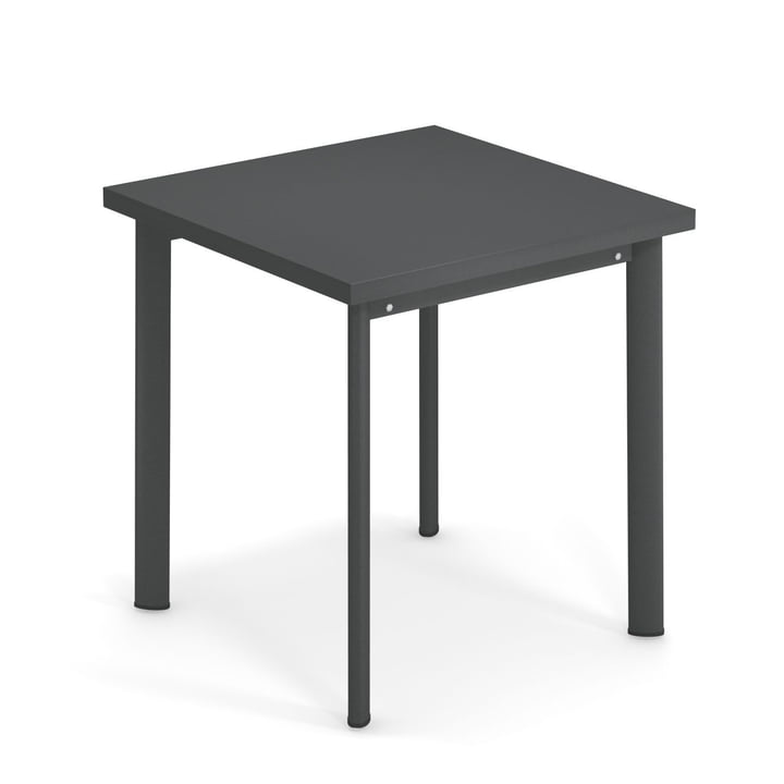 Star table H 75 cm, 70 x 70 cm in antique iron by Emu