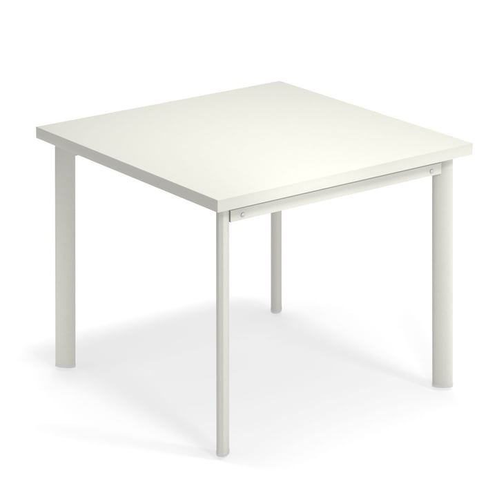 Star table H 75 cm, 90 x 90 cm in white by Emu