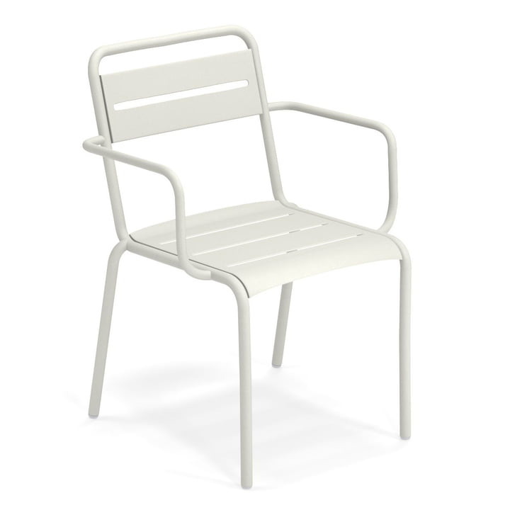 Star armchair in white by Emu