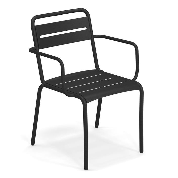 Star armchair in black by Emu
