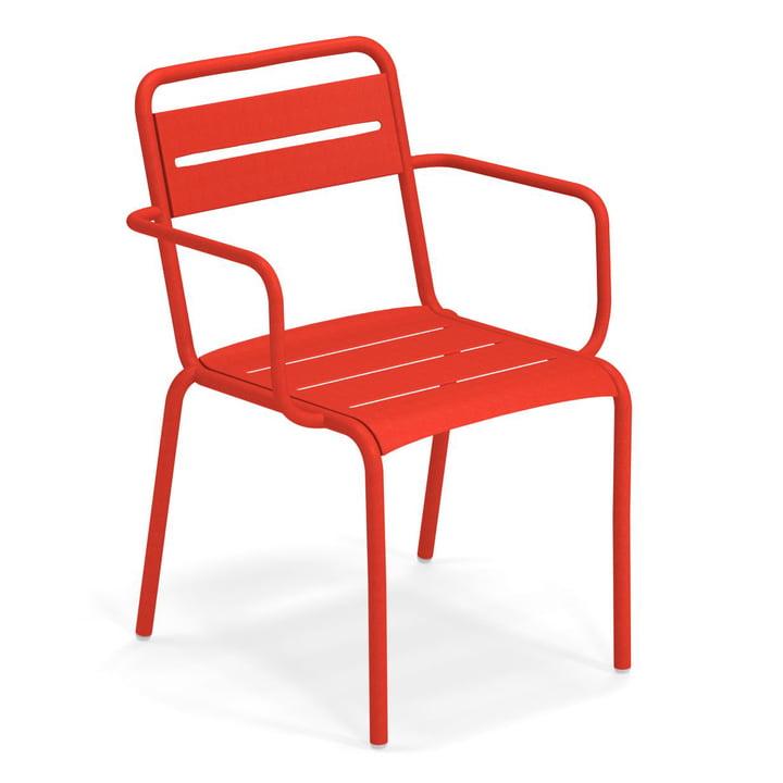 Star armchair in scarlet by Emu