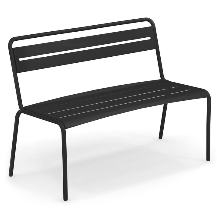 Star bench in black by Emu