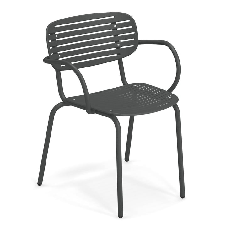 Mom armchair in antique iron by Emu