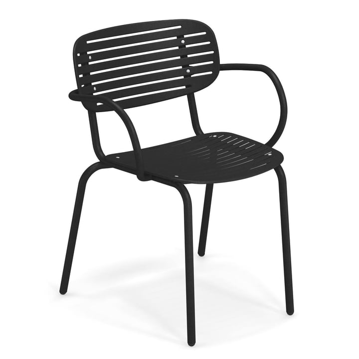 Mom armchair in black by Emu