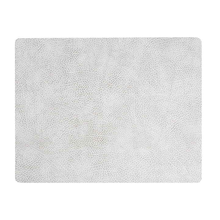 Table set Square L 35 x 45 cm from LindDNA in Hippo white - grey