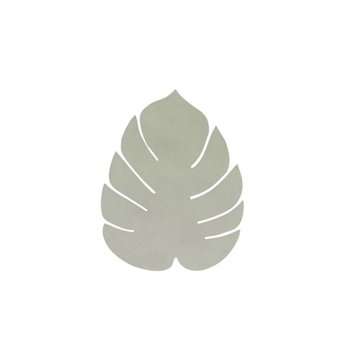 Glass coaster Monstera from LindDNA in Nupo olive-green