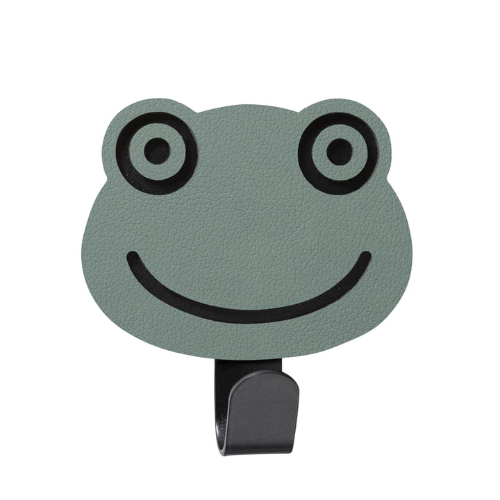 Kids wall hook frog by LindDNA in Nupo pastel green
