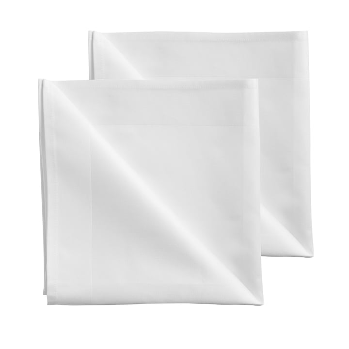 Damask cloth napkins 50 x 50 cm by Georg Jensen Damask in white (set of 2)