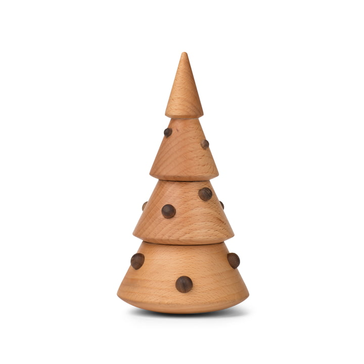 Christmas tree decoration figure in walnut / beech from Spring Copenhagen