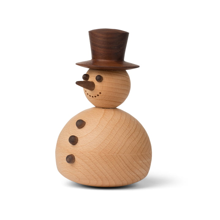 Snowman decorative figure in walnut / beech from Spring Copenhagen
