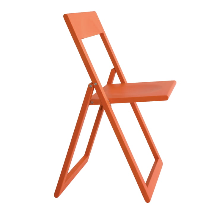 Aviva folding chair in coral red by Magis