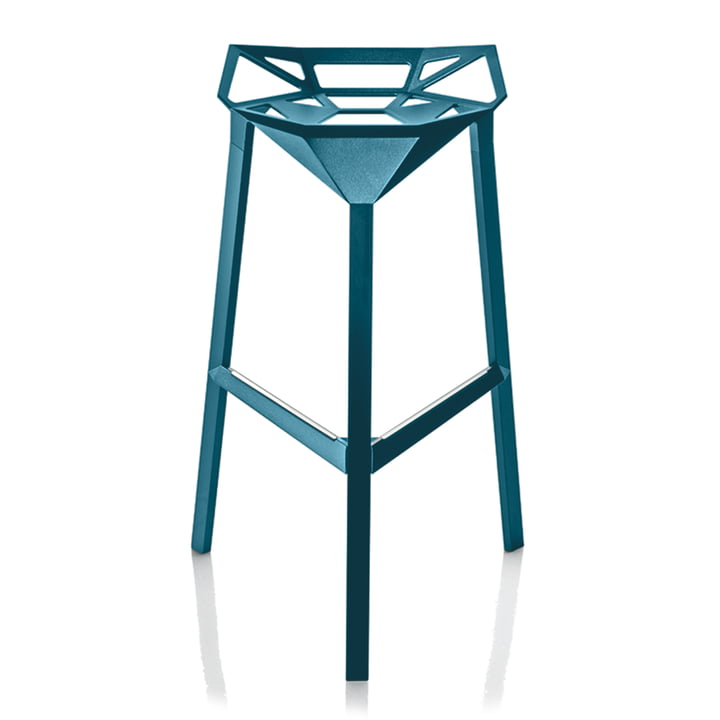 Stool One 67 cm in blue by Magis