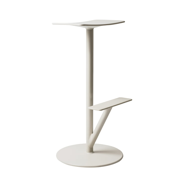 Sequoia bar stool H 66 cm in ivory by Magis
