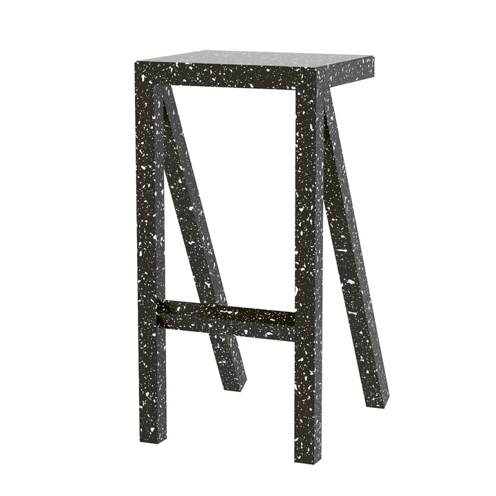 Bureaurama kitchen stool H 62 cm in black from Magis