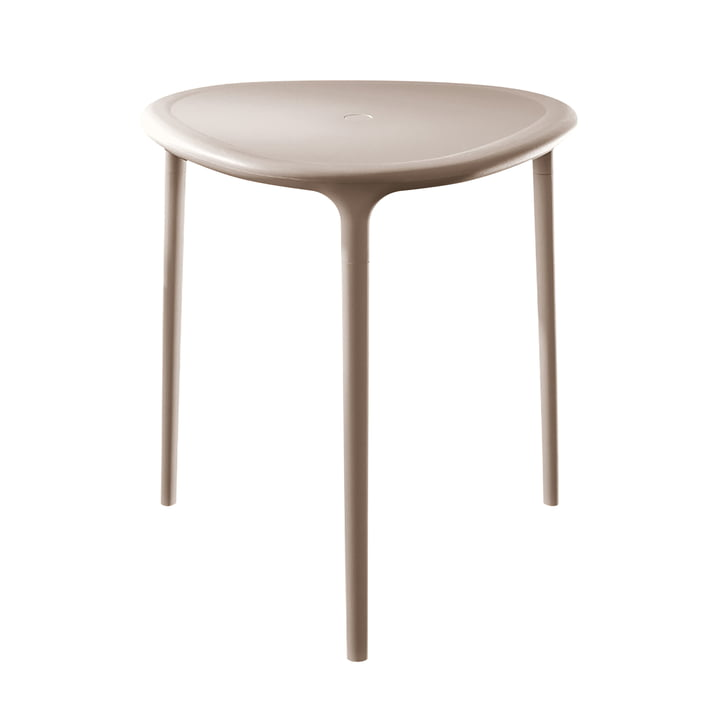 Air Table Outdoor, triangular in beige by Magis