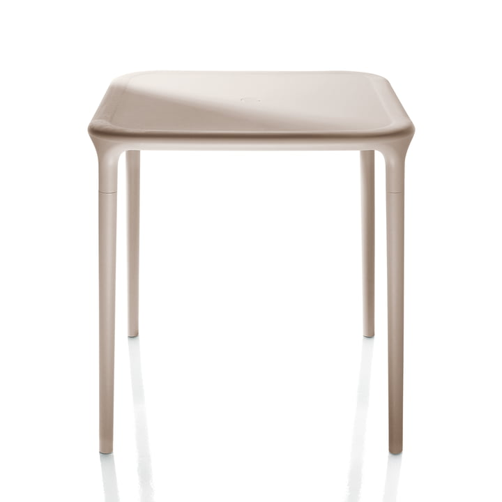 Air Table Outdoor, 65 x 65 cm in beige by Magis