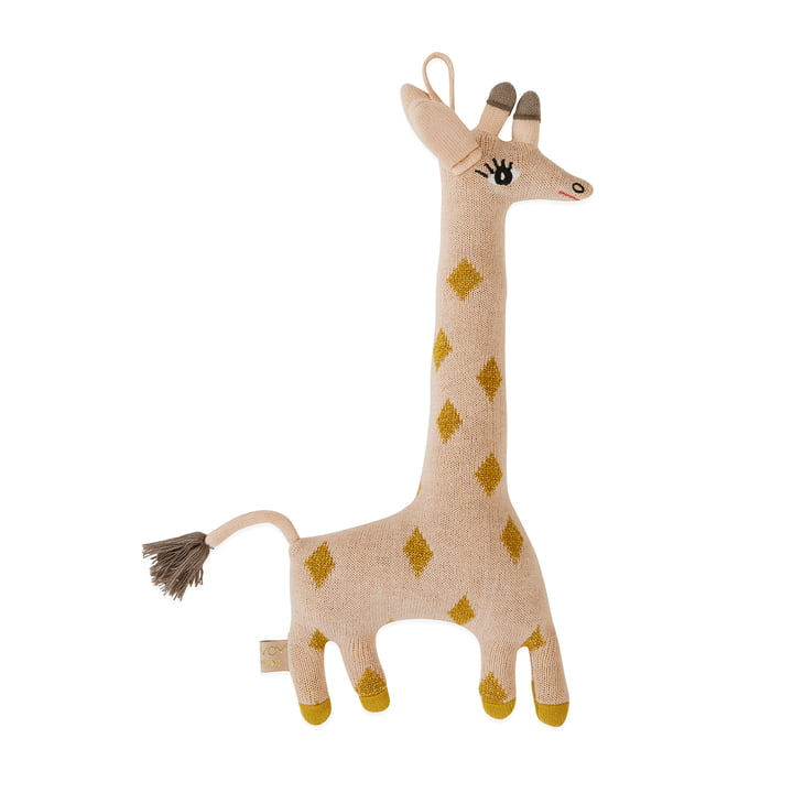 Knitted cuddly toy Baby Giraffe Guggi by OYOY