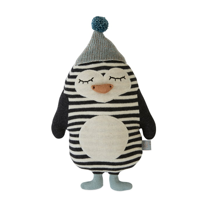 Knitted cuddly toy Baby Penguin Bob by OYOY